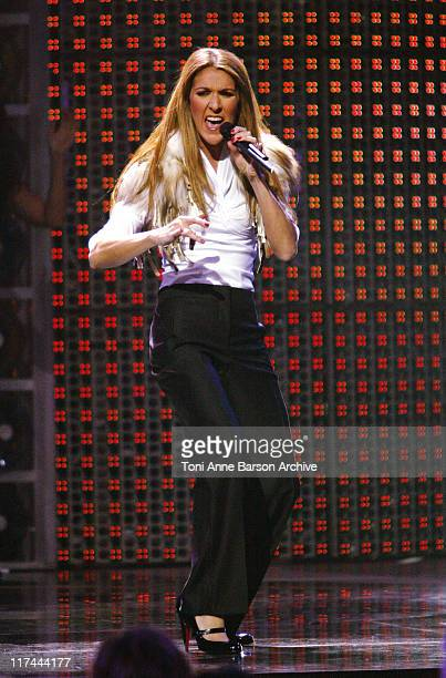 Celine Dion during 2004 World Music Awards Show at The Thomas and Mack Center in Las Vegas United States