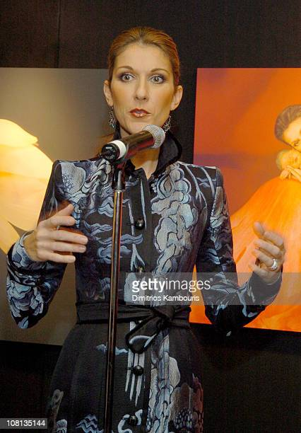 Celine Dion during Celine Dion and Anne Geddes Collaborate on a Major New Work Miracle at Sony in New York City New York United States