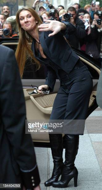 Celine Dion during Celine Dion On Tour in Paris to Promote Her New CD 'On ne change pas' October 7 2005 at Four Seasons Hotel Georges in Paris France