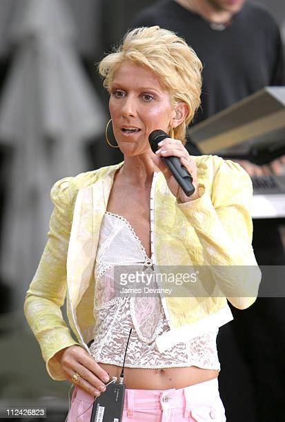 Celine Dion during Celine Dion Performs on 'The Today Show' Summer Concert Series July 10 2003 at NBC Studios Rockefeller Plaza in New York City New...
