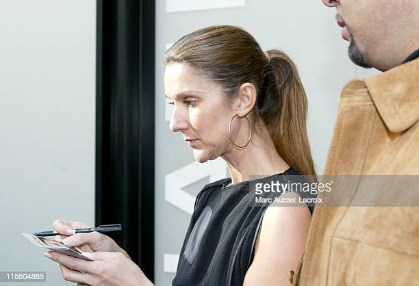 Celine Dion during Celine Dion Sighting at Chanel in Paris October 11 2005 at Avenue Montaigne in Paris France