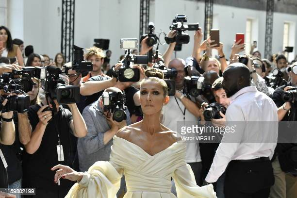 Celine Dion during the Alexandre Vauthier Haute Couture Fall/Winter 2019 2020 show as part of Paris Fashion Week on July 02, 2019 in Paris, France.