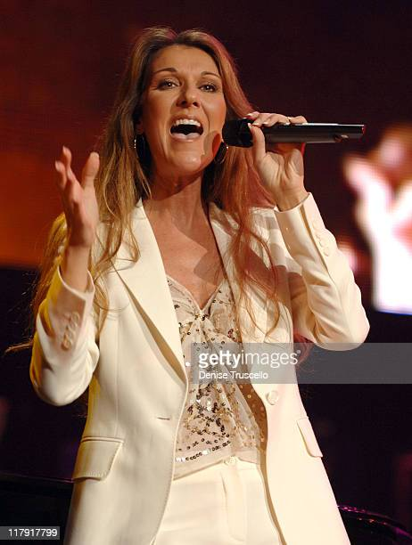 """Celine Dion during The Andre Agassi Charitable Foundation's 10th Annual """"Grand Slam for Children"""" Fundraiser - Show at MGM Grand Garden Arena in Las..."""