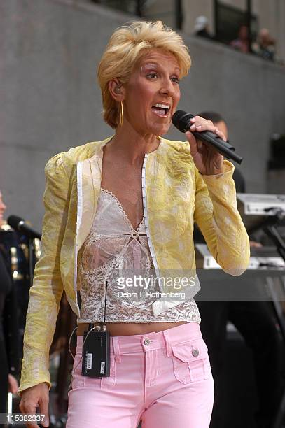 Celine Dion during The 'Today' Show's 2003 Summer Concert Series Celine Dion at Rockefeller Plaza in New York City New York United States