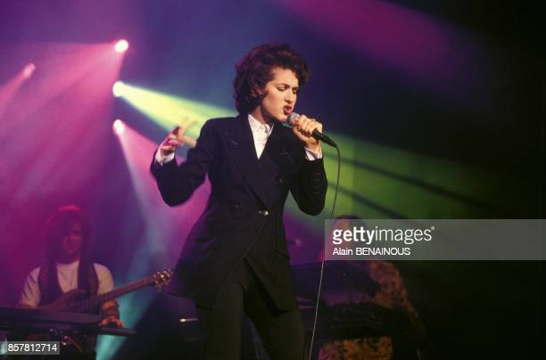 Celine Dion en concert a l'Olympia le 27 septembre 1994 a Paris France