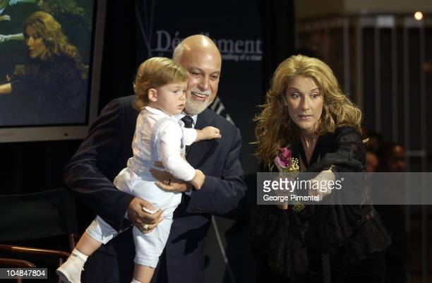 Celine Dion her husband Rene Angelil and their 20monthold baby boy ReneCharles