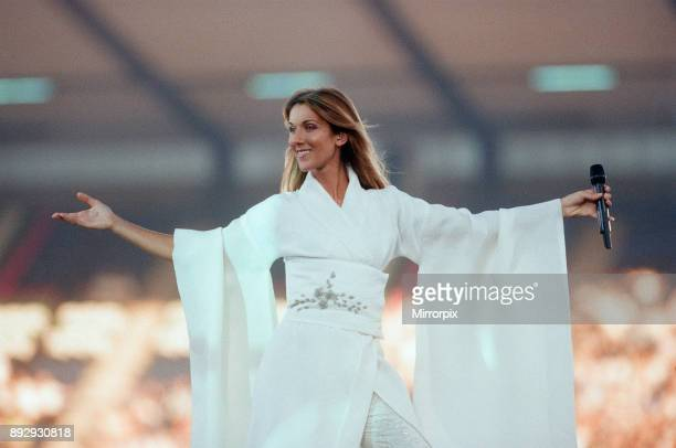 Celine Dion in Concert, Let's Talk About Love World Tour, Murrayfield Stadium, Edinburgh, Scotland, Thursday 8th July 1999.