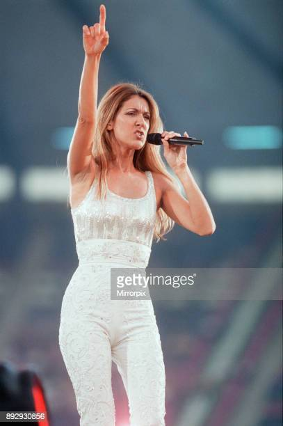 Celine Dion in Concert, Let's Talk About Love World Tour, Murrayfield Stadium, Edinburgh, Scotland, Thursday 8th July 1999.