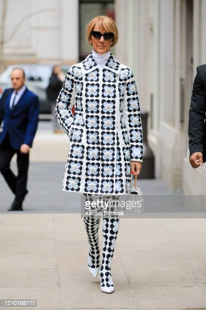Celine Dion is seen leaving her hotel on March 03 2020 in New York City