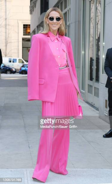 Celine Dion is seen on March 07 2020 in New York City
