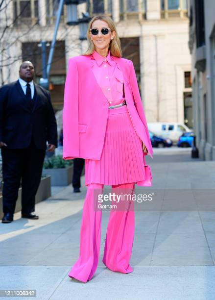 Celine Dion is seen on March 07, 2020 in New York City.
