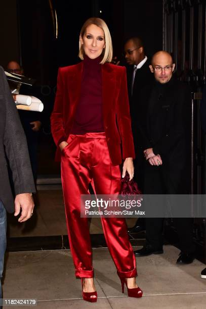 Celine Dion is seen on November 14, 2019 in New York City.