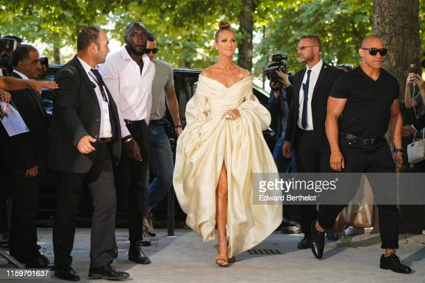 Celine Dion is seen outside Alexandre Vauthier, during Paris Fashion Week Haute Couture Fall/Winter 2019/20, on July 02, 2019 in Paris, France.