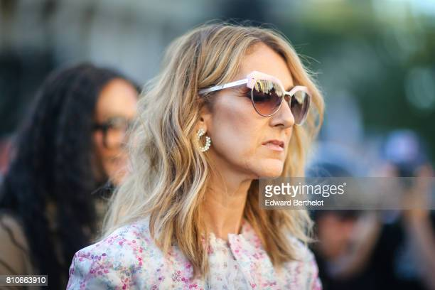 Celine Dion is seen outside the Giambattista Valli show during Paris Fashion Week Haute Couture Fall/Winter 20172018 on July 3 2017 in Paris France