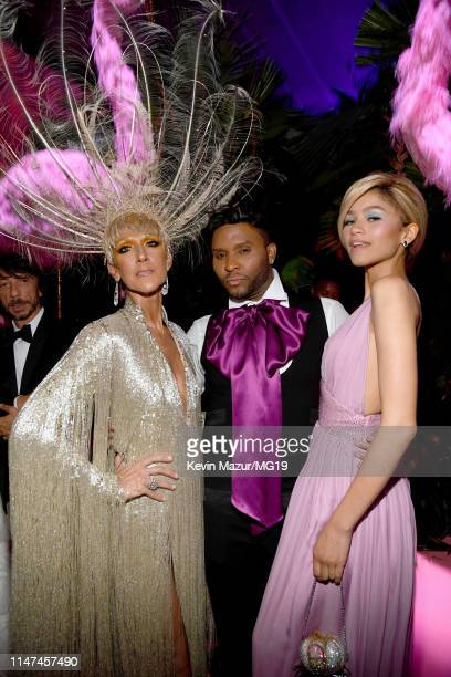 Celine Dion Law Roach and Zendaya attend The 2019 Met Gala Celebrating Camp Notes on Fashion at Metropolitan Museum of Art on May 06 2019 in New York...