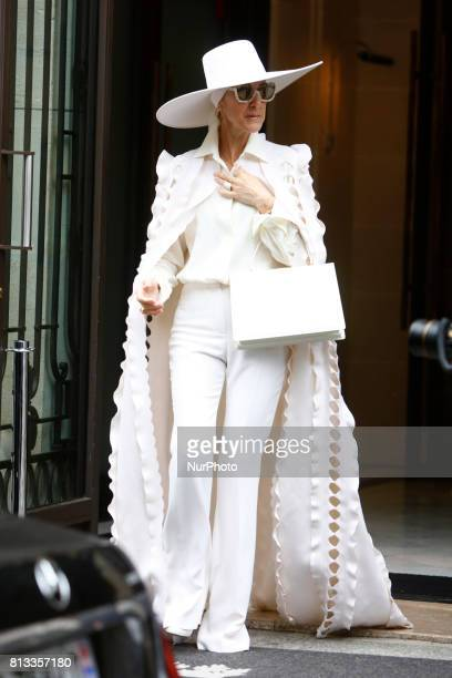 Celine Dion leaves her hotel in Paris, France, on July 12, 2017.