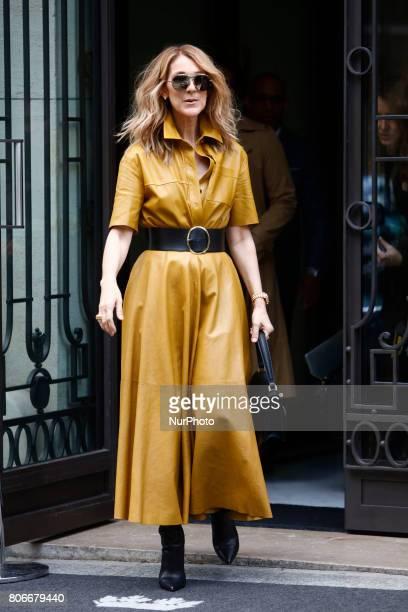 Celine Dion Leaves her hotel in Paris France on July 3 2017
