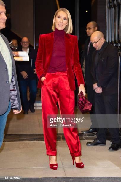 Celine Dion leaves her hotel on November 14 2019 in New York City