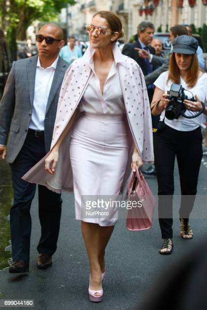 Celine Dion out and about in Paris France on June 21 2017