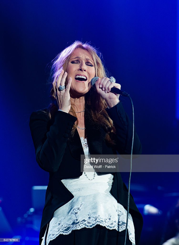 Celine Dion performs at AccorHotels Arena on June 24, 2016 in Paris, France.