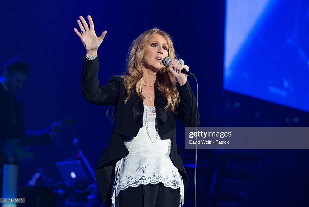 Celine Dion Performs At AccorHotels Arena Bercy In Paris : News Photo