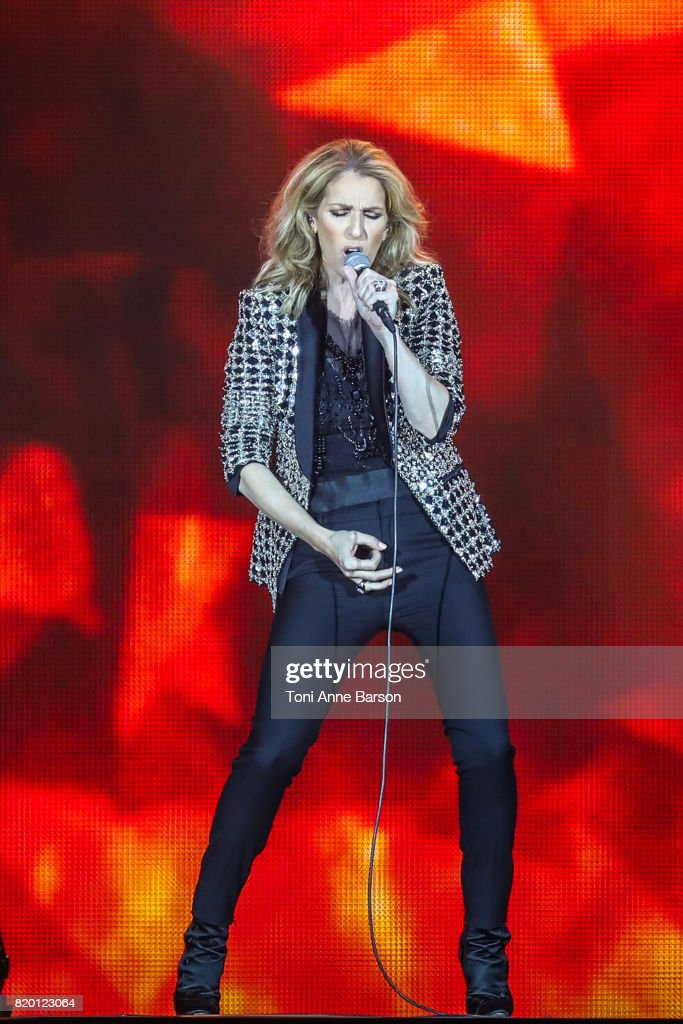 Celine Dion performs at Allianz Riviera Stadium on July 20, 2017 in Nice, France.