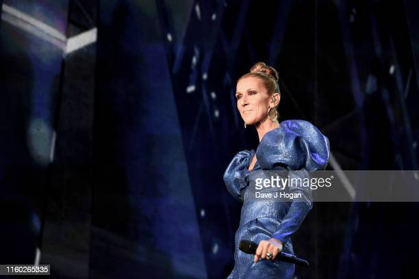 Celine Dion performs during Barclaycard Presents British Summer Time Hyde Park at Hyde Park on July 05 2019 in London England