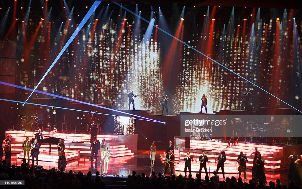 Celine Dion performs during the opening night of her new show at The Colosseum at Caesars Palace on March 15, 2011 in Las Vegas, Nevada.