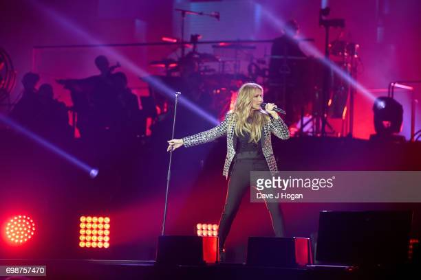 Celine Dion performs her first of four London shows on the Celine Dion Live 2017 tour at The O2 Arena on June 20 2017 in London England