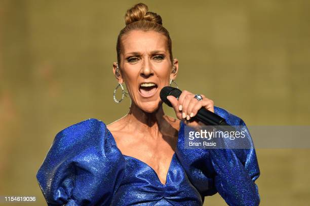 Celine Dion performs live at Barclaycard Presents British Summer Time Hyde Park at Hyde Park on July 5 2019 in London England
