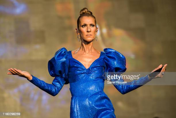 Celine Dion performs live at Barclaycard Presents British Summer Time Hyde Park at Hyde Park on July 05, 2019 in London, England.