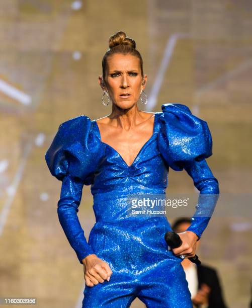 Celine Dion performs live at Barclaycard Presents British Summer Time Hyde Park at Hyde Park on July 05 2019 in London England