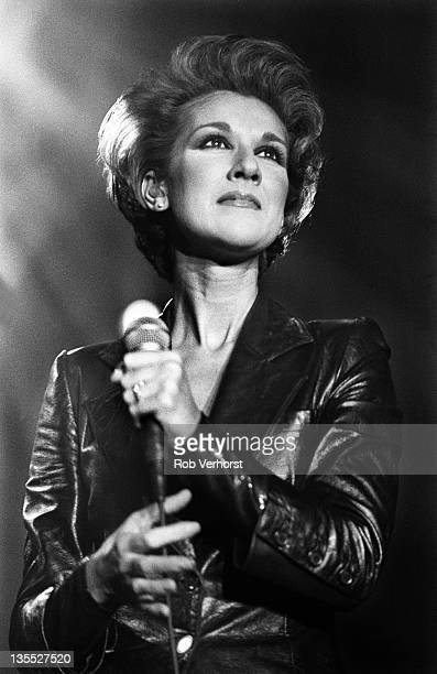 Celine Dion performs on stage Ahoy Rotterdam Netherlands 1st December 1995