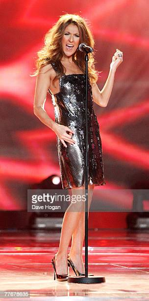 Celine Dion performs on stage at at the World Music Awards 2007 at the Monte Carlo Sporting Club on November 4, 2007 in Monte Carlo, Monaco.