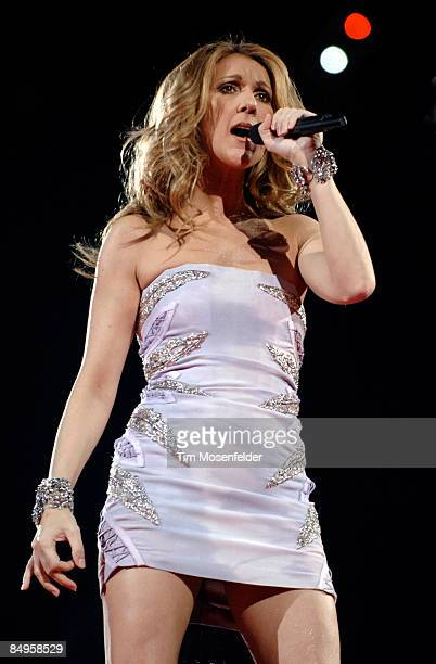Celine Dion performs part of her Taking Chances Tour at the HP Pavilion on February 20 2009 in San Jose California