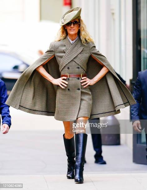 Celine Dion poses for photos on March 05, 2020 in New York City.