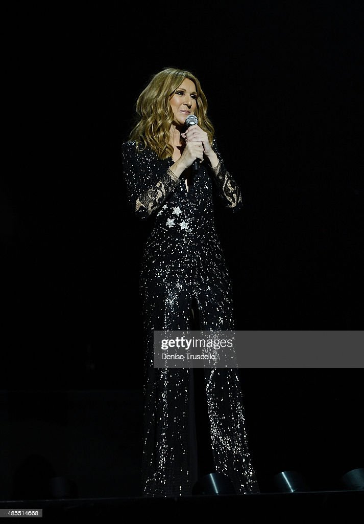 Celine Dion premieres the much-anticipated return of her headline residency show at The Colosseum at Caesars Palace on August 27, 2015 in Las Vegas, Nevada.