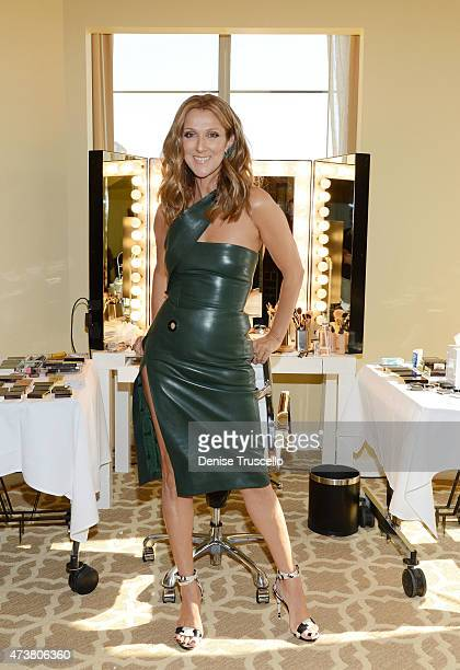 Celine Dion prepares for the 2015 Billboard Music Awards on May 17 2015 in Las Vegas Nevada