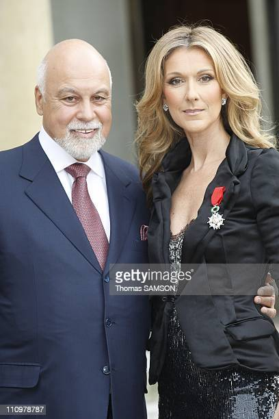 Celine Dion receives the 'Legion d'Honneur' by French President Nicolas Sarkozy at the Elysee Palace in Paris France on May 22nd 2008 Celine Dion and...