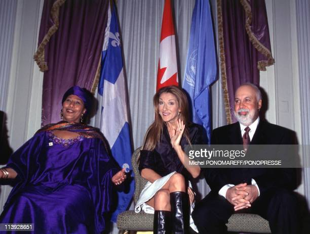 Celine Dion Receives The Title Of Unesco Artist For Peace In Montreal Canada On December 15 1999Ndeye Fall