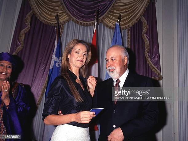 Celine Dion Receives Unesco Artist For Peace Title In Montreal Canada On December 15 1999