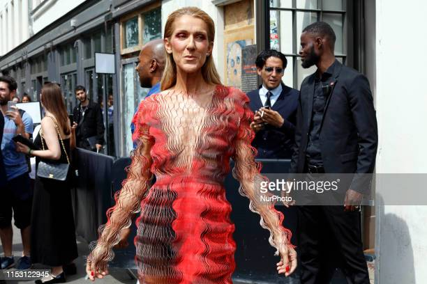 Celine Dion seen out and about in Paris France on July 1 2019