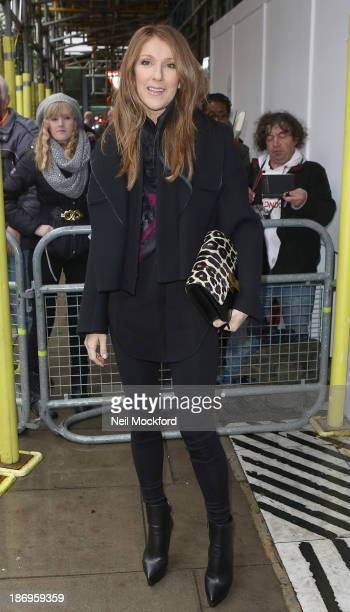 Celine Dion sighted at BBC Radio 2 on November 5 2013 in London England