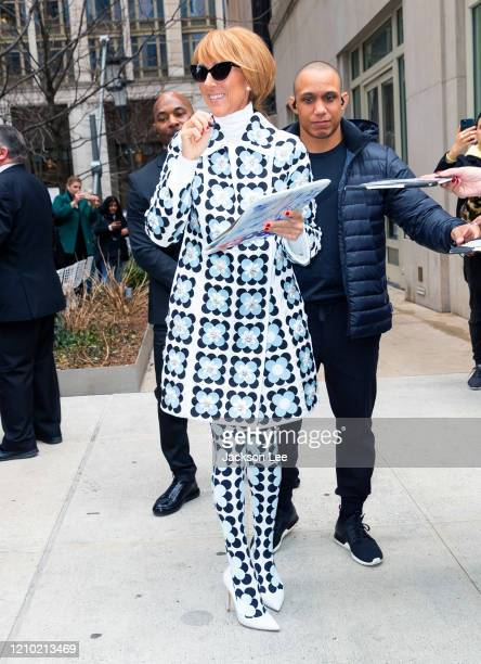 Celine Dion sighting on March 03 2020 in New York City