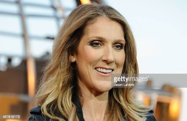 Celine Dion visits 'Extra' at Universal Studios Hollywood on September 9 2013 in Universal City California