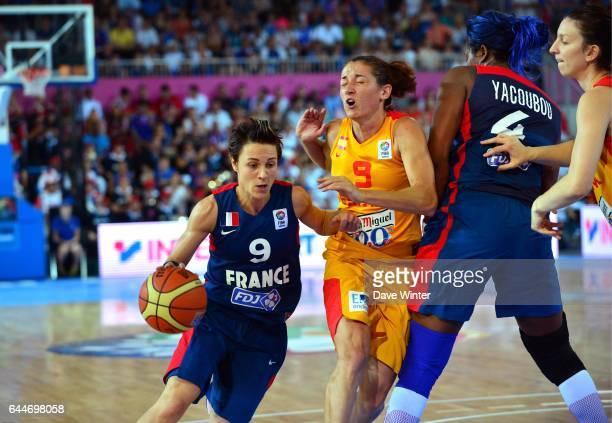 Celine Dumerc / Laia Palau France / Espagne Finale des Championnats d'Europe Feminin 2013 Orchies Photo Dave Winter / Icon Sport