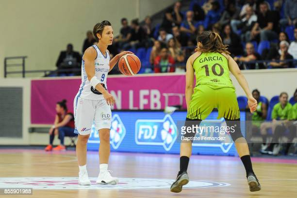 Celine Dumerc of Basket Landes during the Women's League match between Basket Landes and Saint Amand Hainaut of the LFB Open 2017 on September 30...