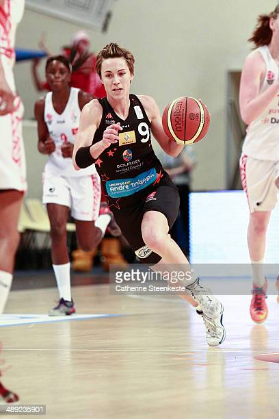 Celine Dumerc of Bourges Basket in action during the game between ESB Villeneuve d'Ascq and Bourges Basket at Stade Pierre de Coubertin on May 10,...