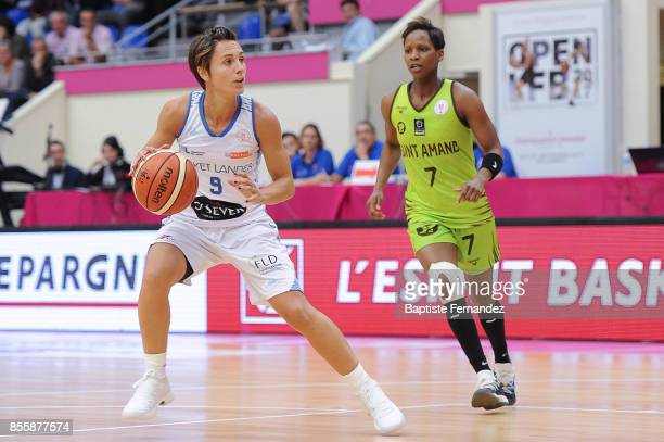 Celine Dumerc of Landes Basket during the Women's League match between Basket Landes and Saint Amand Hainaut of the LFB Open 2017 on September 30...