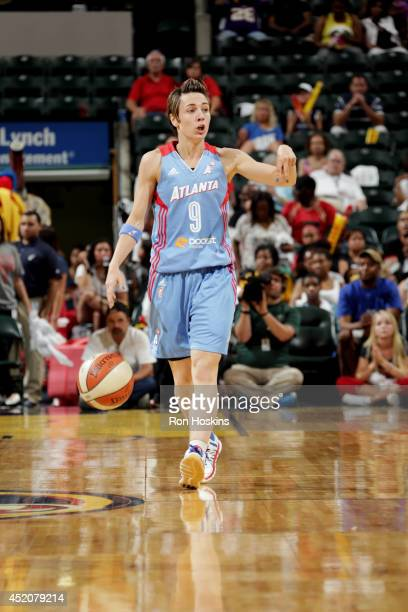 Celine Dumerc of the Atlanta Dream calls a play during a game against the Indiana Fever on July 12 2014 at Bankers Life Fieldhouse in Indianapolis...